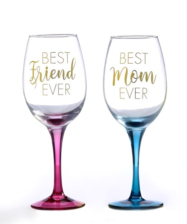 Wine Glass, 2 Asst.