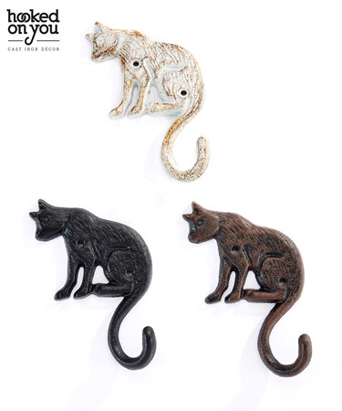 Cast Iron Cat Hook, 3 Asst.