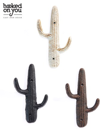 Cast Iron Cactus Hook, 3 Asst.