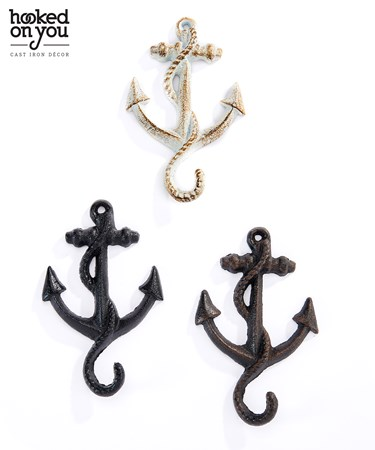 Cast Iron Anchor Hook, 3 Asst.