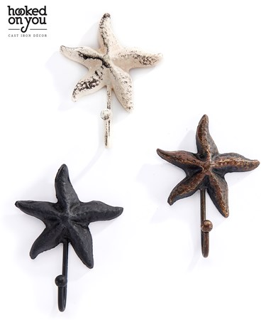 Cast Iron Starfish Hook, 3 Asst.