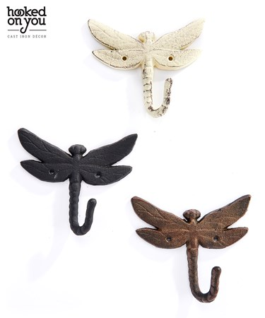 Cast Iron Dragonfly Hook, 3 Asst.