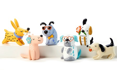 Dog Figurines, 6 Asst.