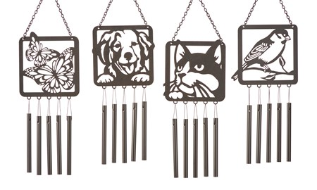 Metal Wind Chimes, 4 Asst.