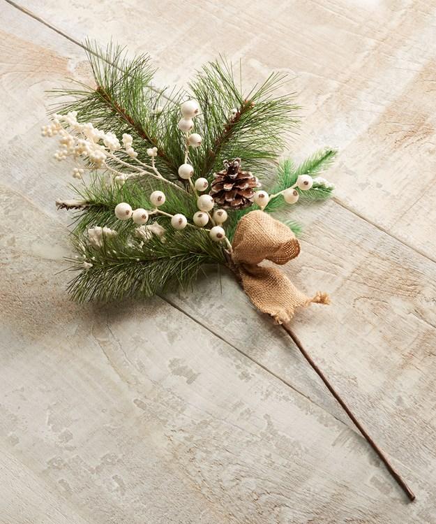 Pinecone Design Floral Pick
